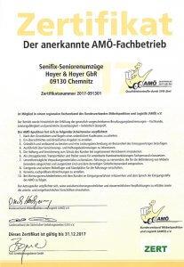 Senifix Umzüge ist Mitglied im AMÖ Verband